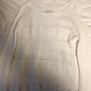 White sweater from Abercrombie&Fitch, worn twice,